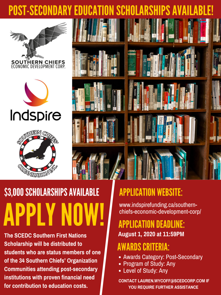 SCEDC Southern First Nations Scholarship Advertisement